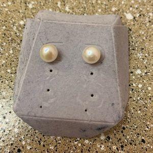Genuine pearl & 14k Earrings